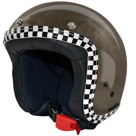 Jet Flag Helmet  chrome-bronze-chess MAX - Helmets