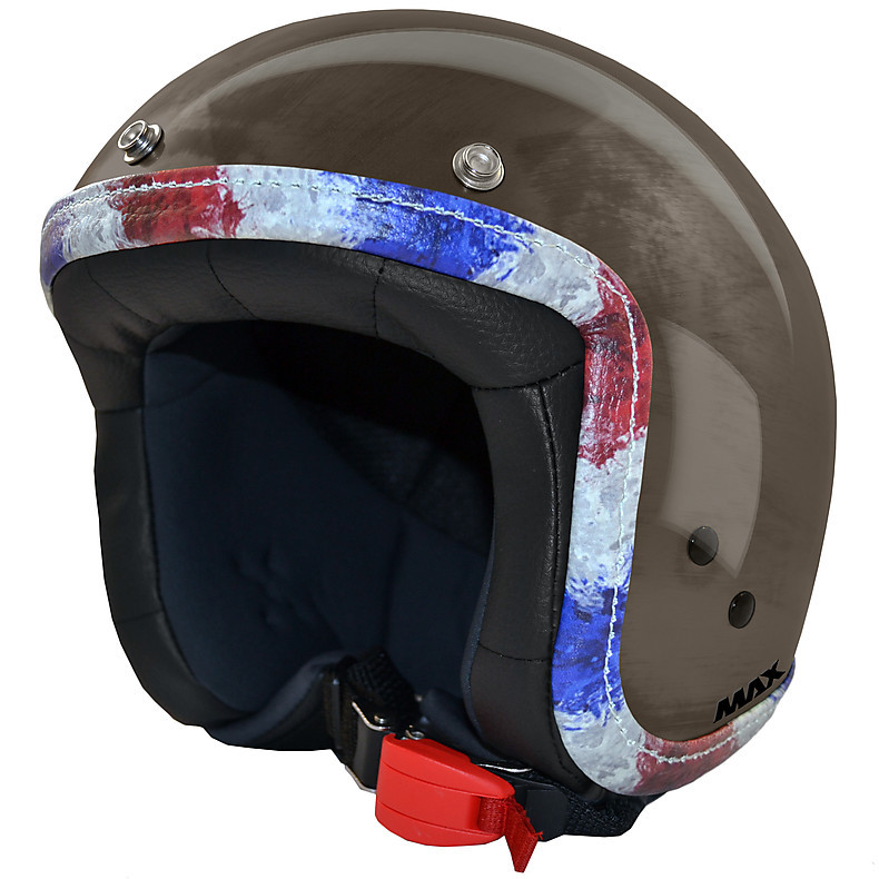 Jet Flag Helmet  chrome-bronze-France MAX - Helmets