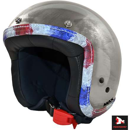 Jet Flag Helmet chrome scratch france flag MAX - Helmets