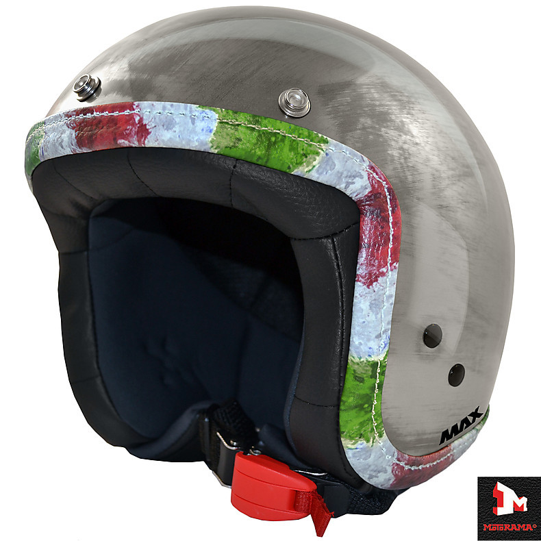 Jet Flag Helmet chrome scratch italy flag MAX - Helmets