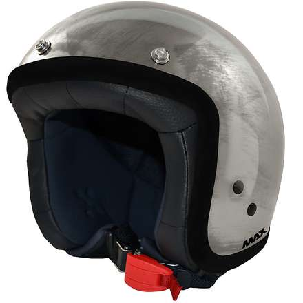 Jet Flag Helmet chrome steel-black MAX - Helmets