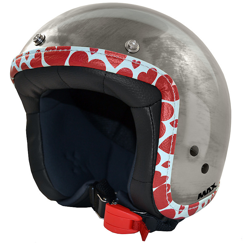 Jet Flag Helmet chrome steel-hearts MAX - Helmets