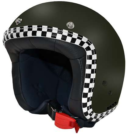 Jet Flag Helmet green matte-chess MAX - Helmets