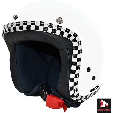 Jet Flag Helmet white checkerboard MAX - Helmets