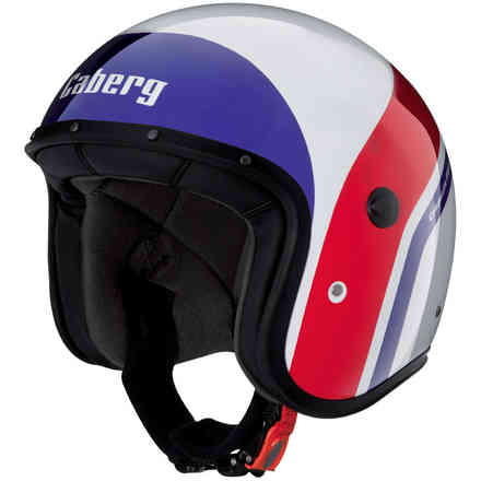 Jet Freeride Mistral white-blue-red Helmet  Caberg
