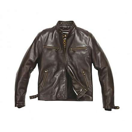 Jet leather Jacket Brown Helstons