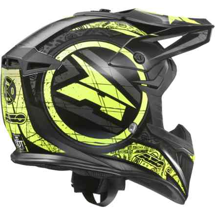 Jump helmet black yellow Axo