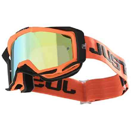 Just1 Iris Track Brille Orange - Grau Just1