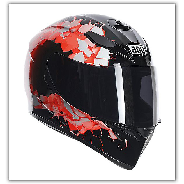 K-3 Sv Fullbomb Orange Helmet Agv