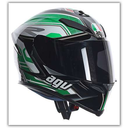 K-5 Dimension Green Helmet Agv