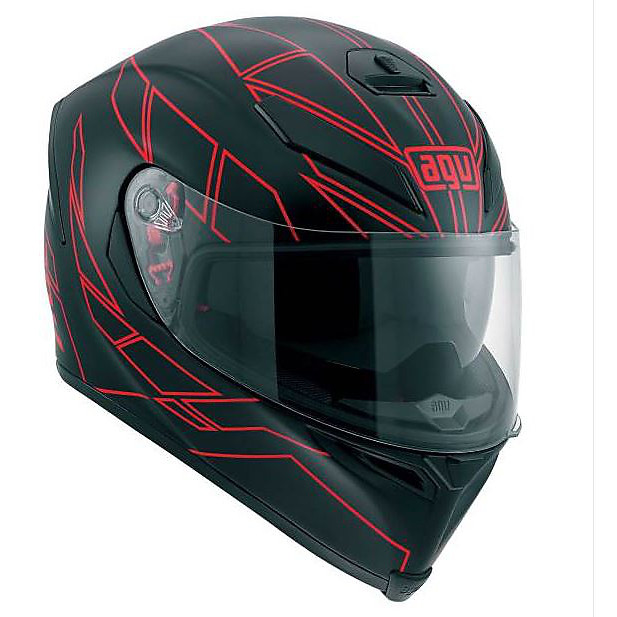 K-5 Hero black-red Helmet Agv