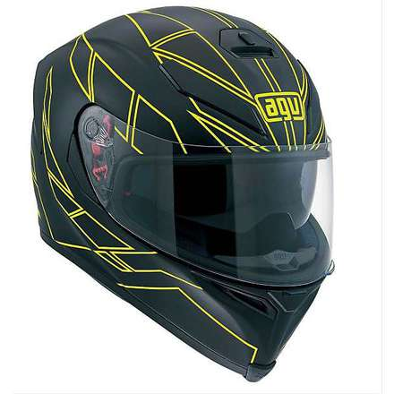 K-5 Hero black-yellow fluoHelmet Agv