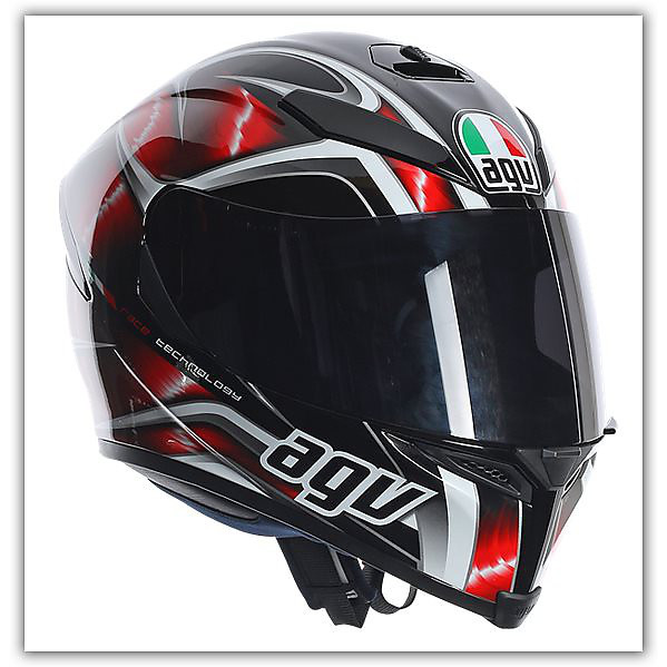 K-5 Hurricane Red  Helmet Agv