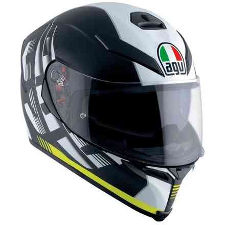 K-5 S Darkstorm matt black yellow Helmet Agv