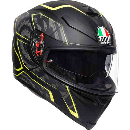 K-5 S Multi Tornado helmet matt black yellow fluo Agv