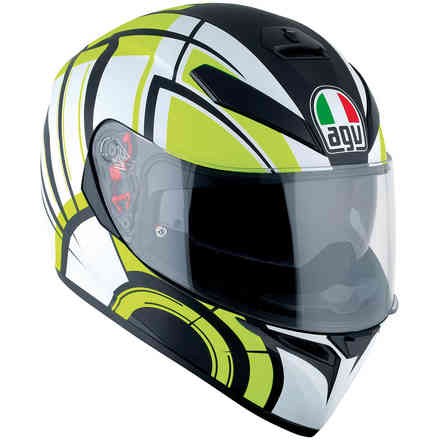 K3 Sv Multi Avior helmet white yellow matt black Agv