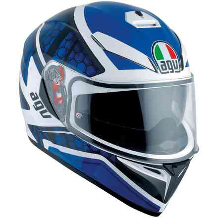 K3 Sv Multi Pulse helmet white black blue Agv