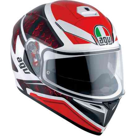 K3 Sv Multi Pulse helmet white black red Agv