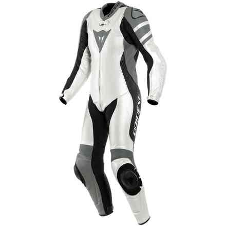 Killalane 1 Pc. Perforated Lady Pearl gray black Dainese