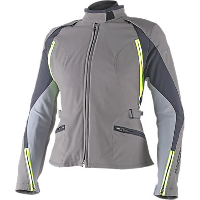 Lady Jacket Arya d-dry Dark gull Gray-Castle Rock-Yellow Fluo Dainese