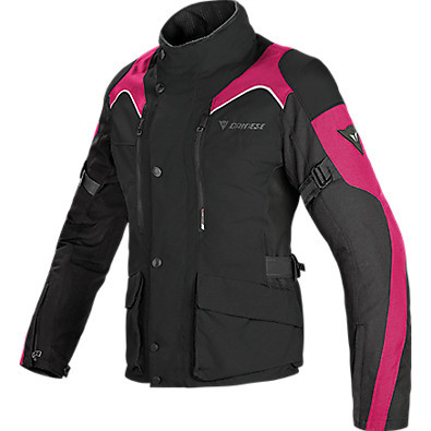 Lady Jacket Tempest d-dry Black-Fuchsia Dainese