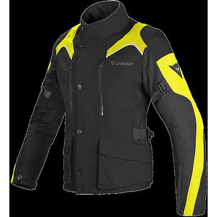 Lady Jacket Tempest d-dry black-yellow fluo Dainese