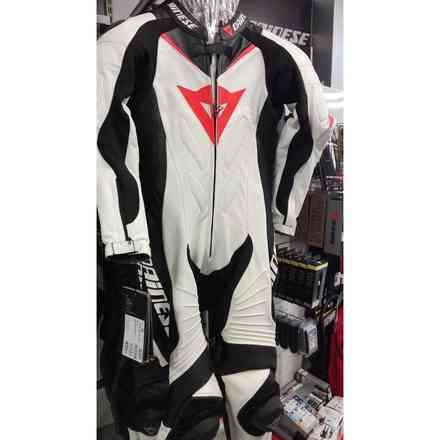 Laguna Seca 1pcs Lady Perf suit white black red Dainese