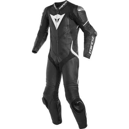 Laguna Seca 4 1pc leather suit Perforated black white Dainese