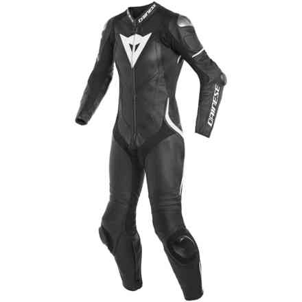 Laguna Seca 4 1pc Perforated Lady leather suit black white Dainese