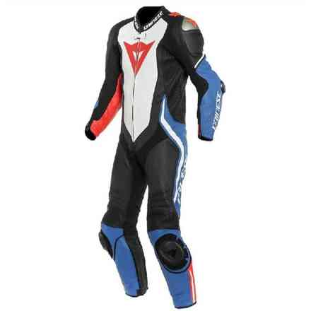 Laguna Seca 4 1pc Perforated suit black white light blue Dainese