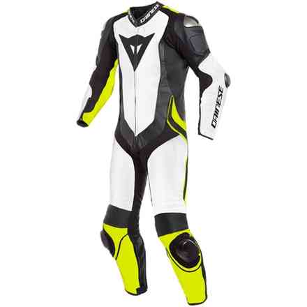 Laguna Seca 4 1pc Perforated white black yellow fluo Dainese