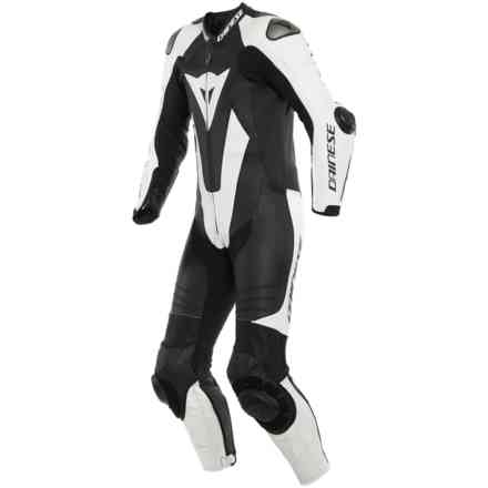 Laguna Seca 5 1pc Perforated Leather Suit Black White Dainese
