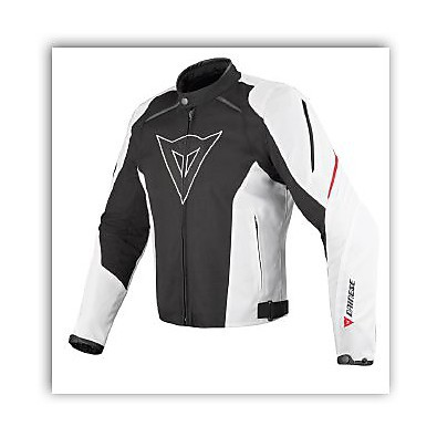 Laguna Seca Tex Black / White / Red Jacket Dainese