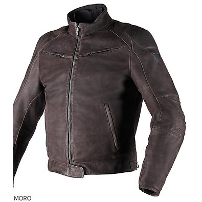 Leather jacket Black Hawk brown Dainese