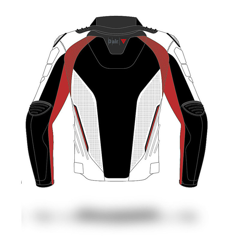 Leather jacket D-Air Street Silverstone Dainese
