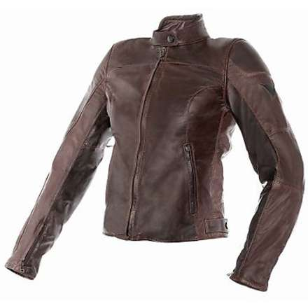 Leather jacket Mike lady brown Dainese