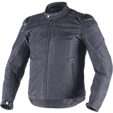 Leather jacket Street Rider traforated black Dainese
