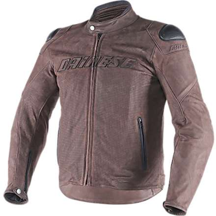 Leather jacket Street Rider traforated brown Dainese