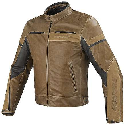 Leather jacket Stripes evo C2 tobacco  Dainese