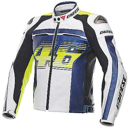 Leather jacket Vr46 D1 traforated 2015 Dainese