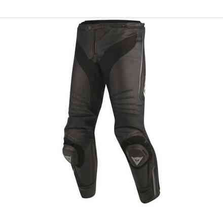 Leather pants Misano black anthracyte Dainese