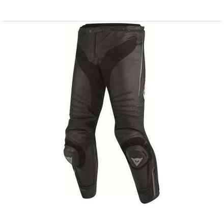 Leather perforated pants Misano black anthracyte Dainese
