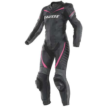 Leather professional suit Racing lady 2015 black-fuxia Dainese