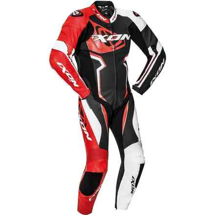 Leather Suit Falcon Black White Red Ixon
