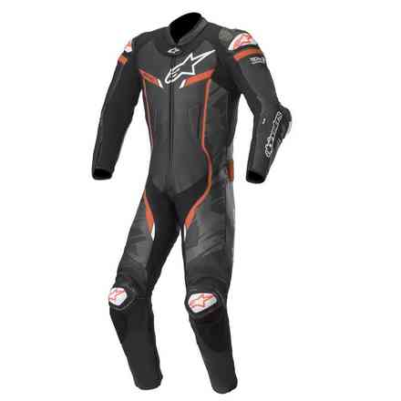 Leather Suit Gp Pro V2 T-Air Comp. Black Camo Red Alpinestars