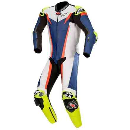 Leather Suit Gp Tech V3 1 Pc T-Air Blue White Red Alpinestars