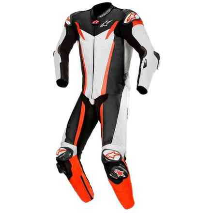Leather Suit Gp Tech V3 1 Pc T-Air White Black Red Alpinestars