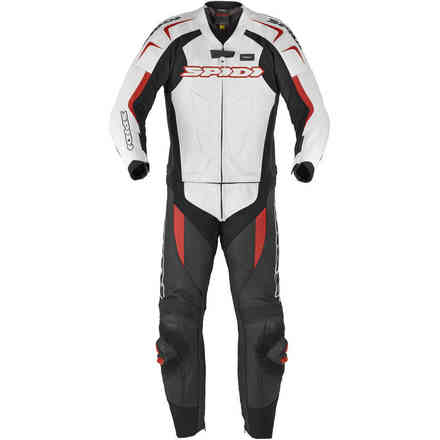 Leather suit Supersport Touring white red Spidi