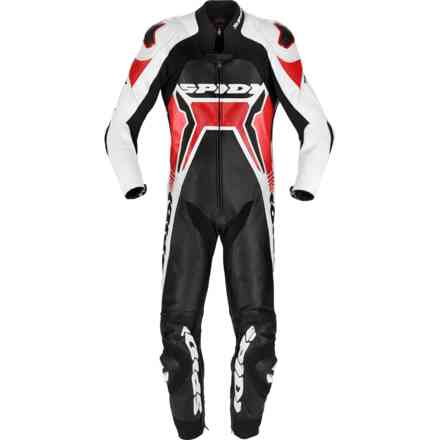 leather suit Warrior 2 Wind Pro Black Red Spidi