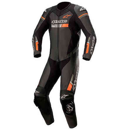 Leather Suits Gp Force Chaser Leath Suit 1 Pc Black Red Alpinestars